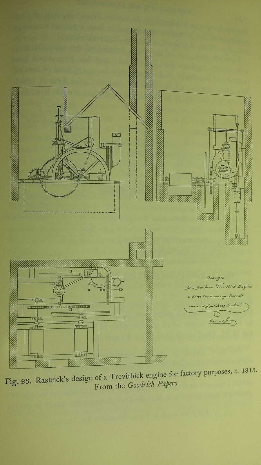 Picture 3: Rastrick's design of a Trevithick engine for factory purposes, c. 1813